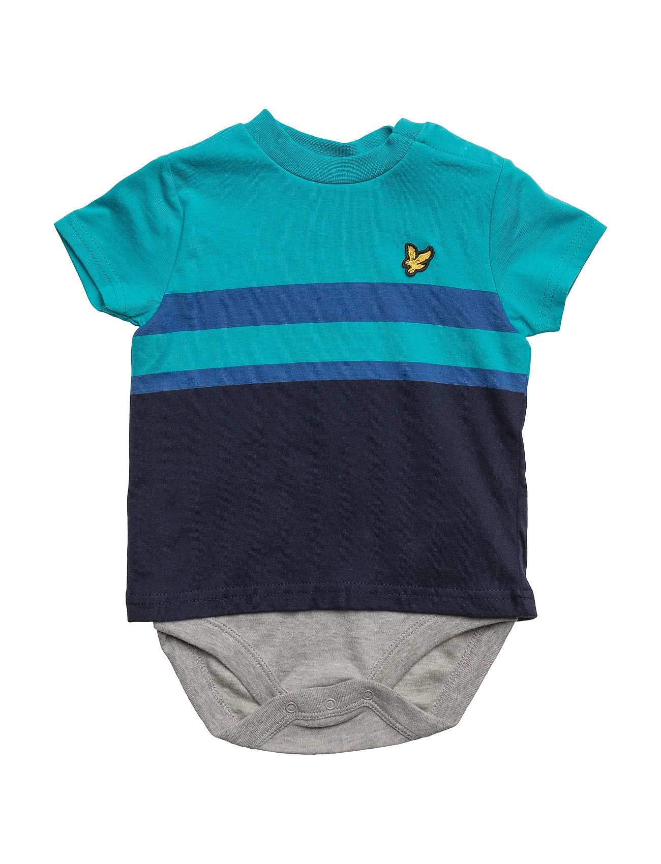 Lyle & Scott Mouline Yoke Detail Lyle & Scott Junior Langærmede bodies til Børn i Deep Indigo