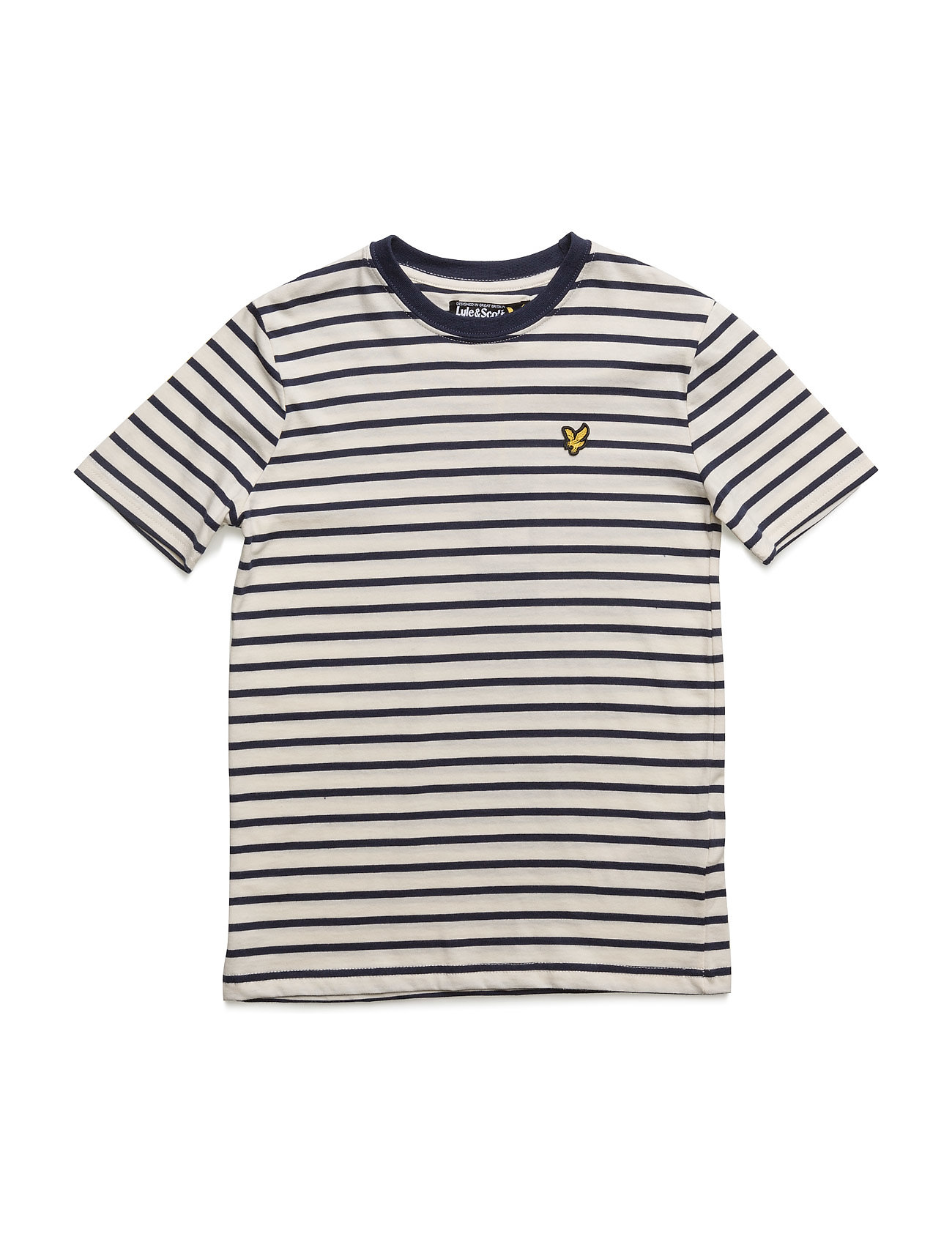 Lyle & Scott Breton Stripe Tee Lyle & Scott Junior Kortærmede t-shirts til Børn i Deep Indigo