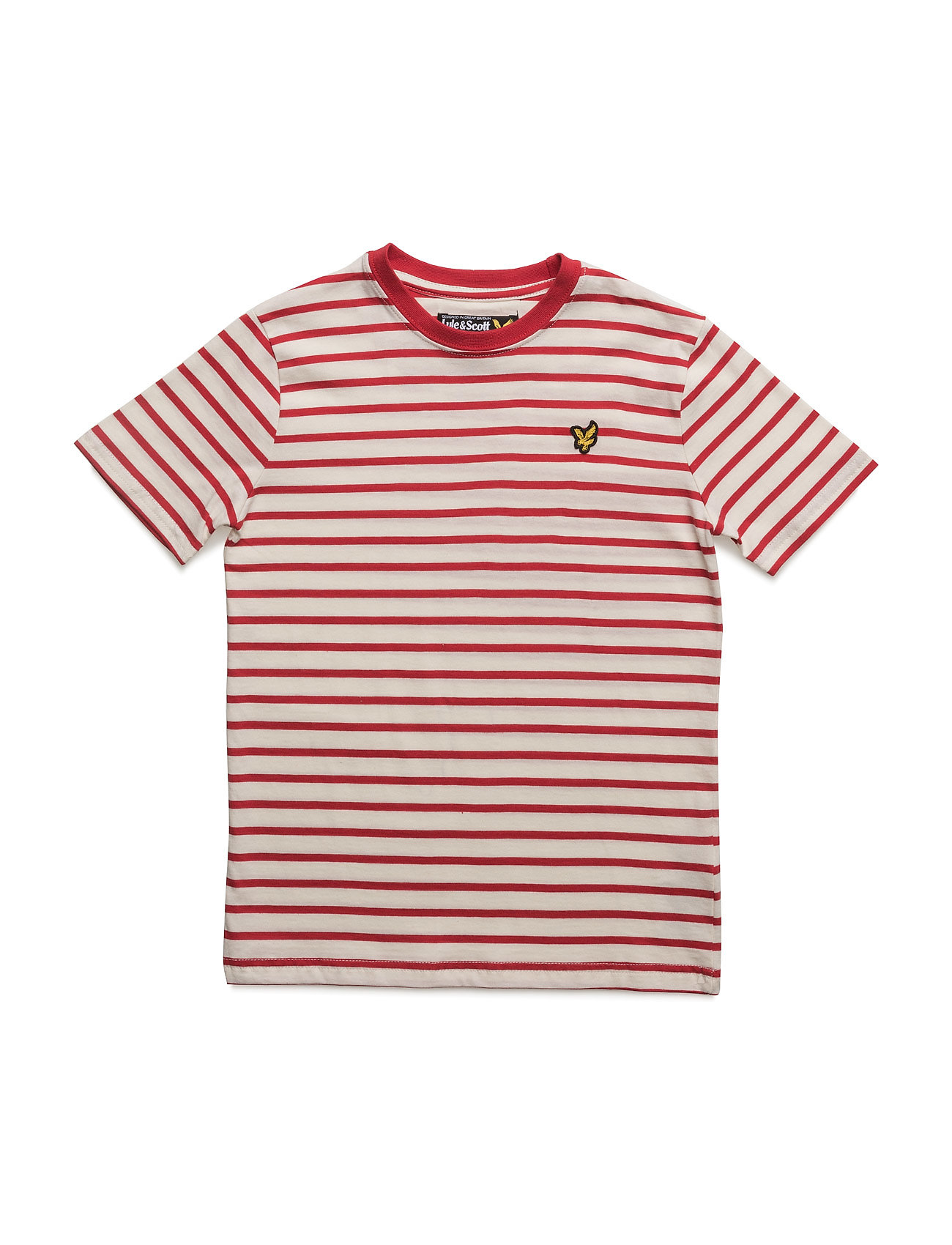 Lyle & Scott Breton Stripe Tee Lyle & Scott Junior Kortærmede t-shirts til Børn i