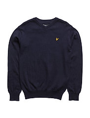 Lyle & Scott Classic V-Neck Jumper - DEEP INDIGO