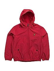 Lyle & Scott Windcheater Zip Through Hoodie Jacket - ROYAL RED