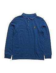 Classic  L/S Polo - TRUE BLUE