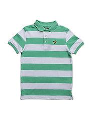 Lyle & Scott Block Stripe Polo - GREEN SHEEN