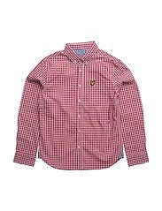 Lyle & Scott Gingham Check Shirt - ROYAL RED