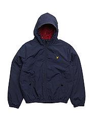 Zip Through Hooded Jacket - DEEP INDIGO