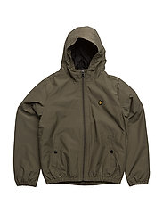 Zip Through Hooded Jacket - OLIVE TREE
