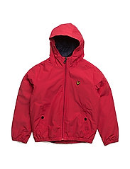 Zip Through Hooded Jacket - ROYAL RED