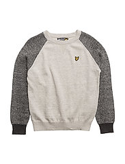 Lyle & Scott Crew Neck Rib Sleeve - VINTAGE GREY HEATHER
