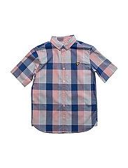 Lyle & Scott Check Shirt Ss - SOFT PINK