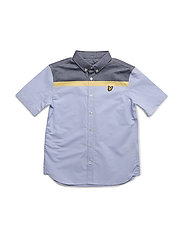 Lyle & Scott Block Stripe Shirt - DEEP INDIGO
