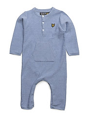 Knitted Romper - BLUE MARL