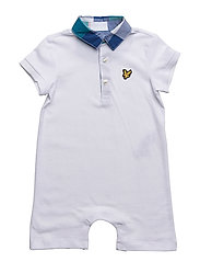 Lyle & Scott Piquet Romper - BRIGHT WHITE
