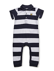 Polo Romper Long Leg - DEEP INDIGO