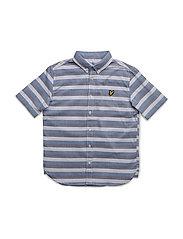 Lyle & Scott Geometric Shirt - TRUE BLUE