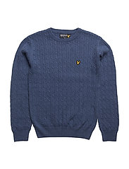 Cable Knit Jumper - STORM BLUE MARL