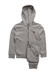 Lyle & Scott Interlock Hoody and Jogger Set - VINTAGE GREY HEATHER