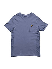 T-Shirt With Zip Pocket - STORM BLUE