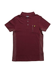 Polo With Zip Polo Ss - CLARET JUG