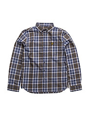 Poplin Check Ls Shirt - OLIVE TREE