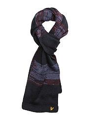Jacquard Knitted Scarf - DEEP INDIGO