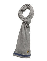 Plain Rib Scarf With Tipping - VINTAGE GREY HEATHER