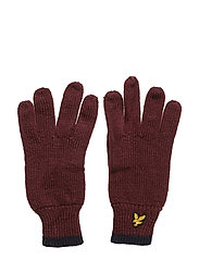 Plain Rib Gloves With Tipping - CLARET JUG