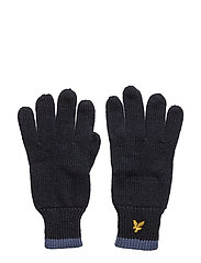 Plain Rib Gloves With Tipping - DEEP INDIGO