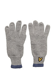 Plain Rib Gloves With Tipping - VINTAGE GREY HEATHER
