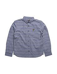 Texturized Ls Shirt - STORM BLUE