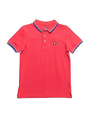 Plain Tipped Polo - ROYAL RED