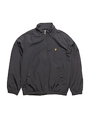 Zip Through With Funnel Neck Jacket - BLACK