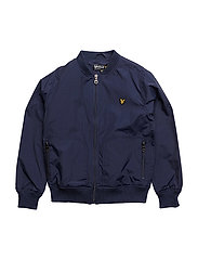 Nylon Lightly Wadded Bomber - NAVY
