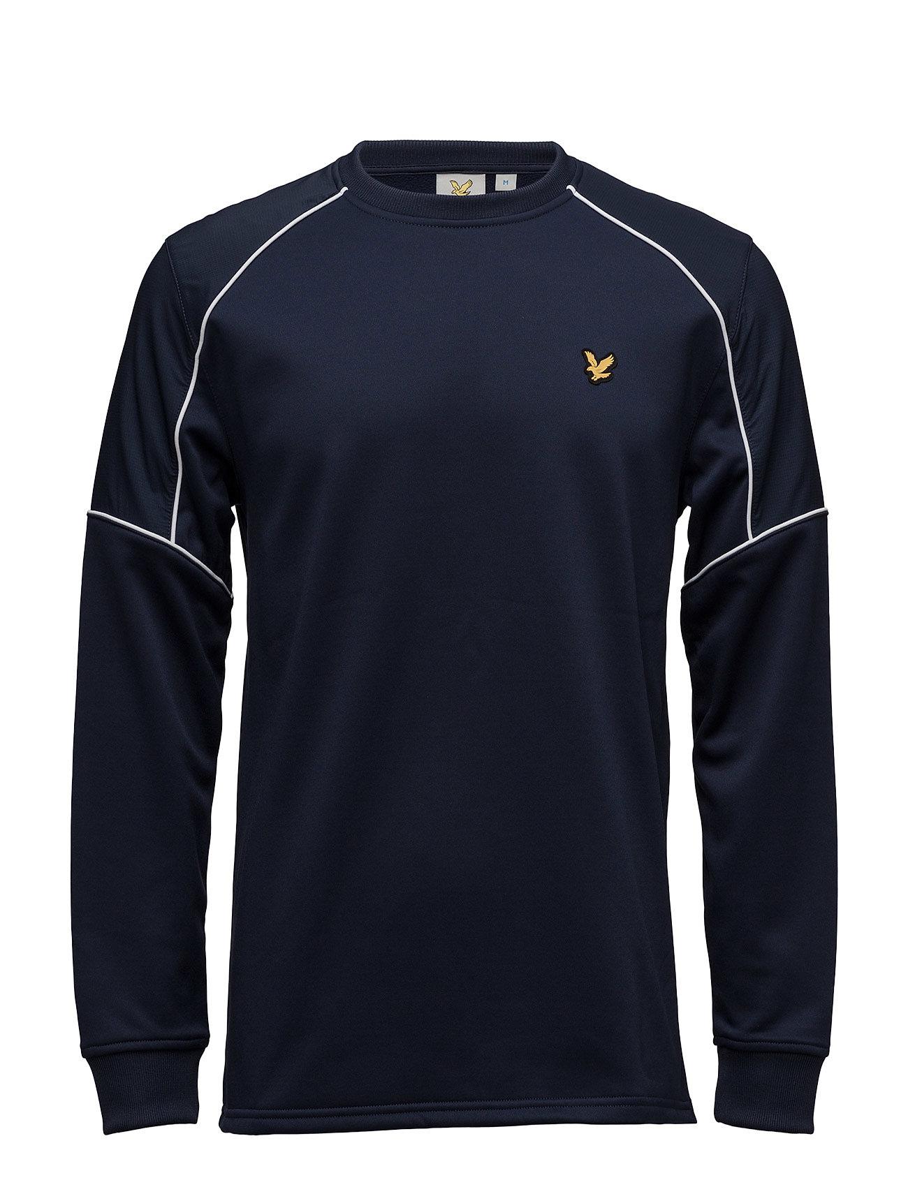 Lewis Fleece Sweatshirt With Overlay Lyle & Scott Sport Sweat pants til Herrer i Navy blå
