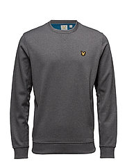 Thompson Fleece crew - MID GREY MARL