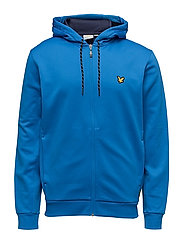 Hill fleece hooded track jacket - DEEP COBALT
