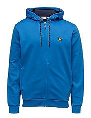 Hill fleece hooded track jacket - DEEP COBALT