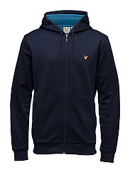Hill fleece hooded track jacket - NAVY