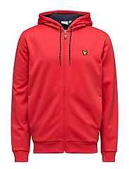 Hill fleece hooded track jacket - PAVILION RED