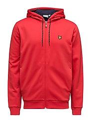 Hill fleece hooded track jacket - PAVILION RED