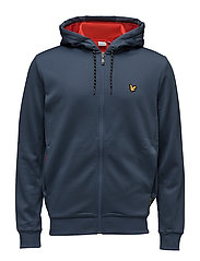 Hill fleece hooded track jacket - PETROL GREY