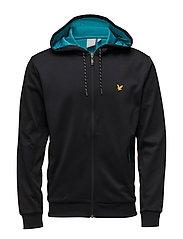 Hill fleece hooded track jacket - TRUE BLACK