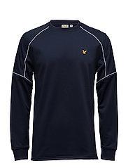 Lewis fleece sweatshirt with overlay - NAVY