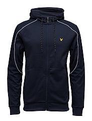 Hurst hooded track jacket with overlay - NAVY