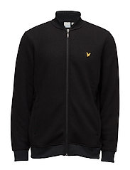 James Knitted Fleece Midlayer - TRUE BLACK