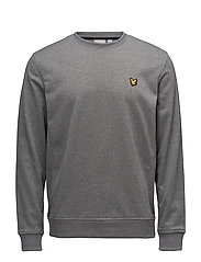 Braid Fleece Crew - MID GREY MARL