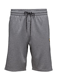 Charlton Fleece shorts - MID GREY MARL