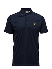 Pascoe Polo with mesh panels - NAVY