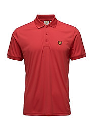 Pascoe Polo with mesh panels - PAVILION RED