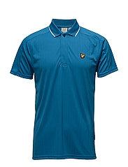 Banks drop needle polo shirt - DEEP COBALT