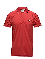 Banks drop needle polo shirt - PAVILION RED